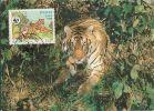 Laos - WWF - Maximum Card - Tiger - Stamp - Laos