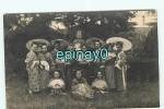 CARTE PHOTO Provenant Sur ANGERS - Groupe De Femmes JAPONAISE - JAPON - EVENTAIL - Cartes Postales