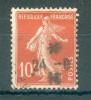Collection FRANCE ; 1907-20 ; Y&T N° 138d IC ;  Oblitéré - 1906-38 Semeuse Camée