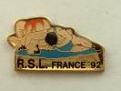 PIN´S LUTTE - R.S.L FRANCE 92 - Lutte