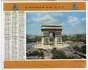 CALENDRIER ORIGINAL 1961  RECTO VERSO   PALAIS DE CHAILLOT ARC DE TRIOMPHE   MANQUE FEUILLET - Calendriers