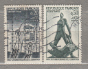 FRANCE 1964 WWII Liberation From Nazis Semi Postal Yv 1407, 1411 Mi 1463-1464 Used(o) #15946 - WW2