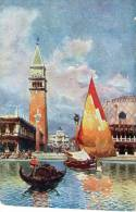 """Cartolina D´epoca """" Venezia - Piazzetta S.Marco Dalla Laguna  """" - Venezia"""