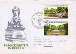 DDR Brief 1980, Barockgärten In Der DDR, Schöne 2 Fach Sondermarken-Frankierung - [6] Democratic Republic