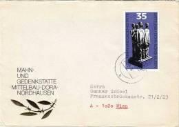 DDR Brief 1979, Mahn- Und Gedenkstätte Mittelbau-Dora Nordhausen, Sondermarken-Frankierung - [6] Democratic Republic
