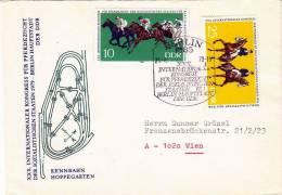 DDR Brief 1979, Rennbahn Hoppegarten, Schöne 2 Fach Sondermarken-Frankierung - [6] Democratic Republic