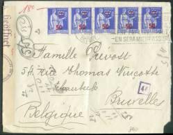 Lettre Censurée De  Paris Vers Schaerbeek - 7965 - Covers & Documents