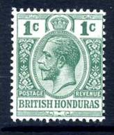 British Honduras George V 1913 1c Green, Wmk. Crown CA, Lightly Hinged Mint (A) - British Honduras (...-1970)