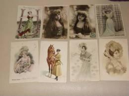 Lot De14 CPA Fantaisie Femmes Art Nouveau Reutlinger Et Divers A Saisir - Illustrateurs & Photographes