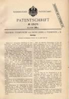 Original Patentschrift - T. Stemplinger In Vilshofen A.D., 1900 , Handsäge , Säge !!! - Werkzeuge