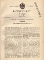 Original Patentschrift - Curt  Abel In Heidelberg - Neuenheim , 1901 , Briefumschlag !!! - Andere Sammlungen