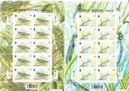 Jersey 2002 Postfris MNH Sheet Of 10 Insects - Jersey