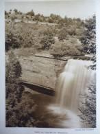 Jura , Franche Comté , Dans La Vallée Du Hérisson , Héliogravure Sépia De 1939 - Documenti Storici