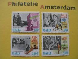 Italy 1988, NEO-REALISME FILM MOVIES KINO CINEMA / VISCONTI DE SICA ROSSELLINI DE SANTIS: Mi 2059-62, ** - Cinema