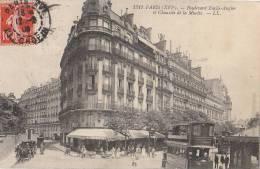 PARIS XVI  Bd Emile AUGIER Et Chaussée De La MUETTE Animation CAFE LA ROTONDE Station Des OMNIBUS 1909 - Arrondissement: 16