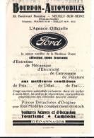 PUBLICITÉ , Bourdon Automobiles , Neuilly Sur Seine , Ford , Frais Fr : 1.55€ - Advertising