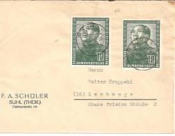 PR002 /  German-Chinese Friendship 1951, Mao Zedong 12 Pfennige /2)