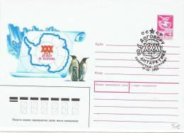L-ARC21 - RUSSIE Entier Postal Enveloppe Expédition Polaire 1989 - Polar Philately