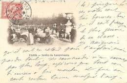 PARIS - JARDIN DU LUXEMBOURG - ATTELAGE DE CHEVRE - Arrondissement: 06