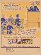 PR 107/  PROTEGE CAHIER-       CENDRE-LESSIVE SAINT MARC - Produits Ménagers