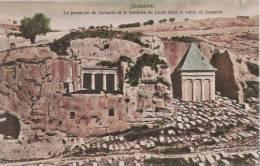 JERUSALEM LA PYRAMIDE DE ZACHARIA ET LE TOMBEAU DE JACOB DANS LA VALLEE DE JOSAPHET - Israele