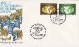 ONU  Vienne 1980  N° 9 . 10 =  Enveloppe  1°jour - FDC