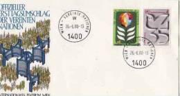 ONU  Vienne 1980  N° 12 . 13  =  Enveloppe  1°jour - FDC