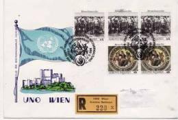 ONU  Vienne 1989  N° 96 + 99   =  Enveloppe  1°jour - FDC