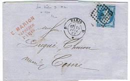 """Jolie Lettre Avec Losange D """"bâton"""" Sur Lettre Pour Cosne.                                                    Lot 20 - Marcophilie (Lettres)"""
