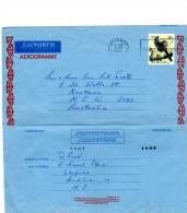 64371)aerogramma Aereo Nuova Zelanda Con Un Valore + Annullo - Unclassified