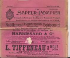 Pompiers Journal Le Sapeur Pompier No Spécial Mai 1909 - Firemen