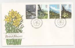 - 45 A - BRITISH FLOWERS - 1971-1980 Em. Décimales