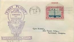 1928  First Flight  Terre Haute IN   CAM 30 - Air Mail