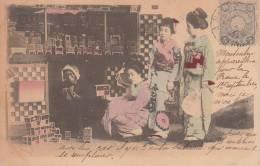 GEISHA  VIAGGIATA 1906  BELLA FOTO D´EPOCA ORIGINALE 100% - Giappone