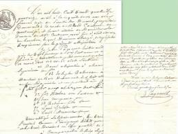 Montamisé (86) R. De Pérusse, Duc Des Cars, Procès Coupe De BOIS, 1834, Châtellerault, Ref 850 - Historische Documenten