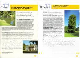 """2 Fiches Tourisme """"Promenade Pédestre : Le Brabant Flamand Entre Ciel Et Terre - Heikruis"""" - Tourism"""