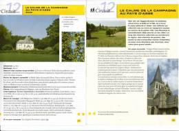 """2 Fiches Tourisme """"Promenade Pédestre : Le Calme De La Campagne Au Pays D´Asse"""" - Tourism"""
