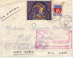 PARIS-NEW YOK-150 000e TRAVERSEE DE L'ATLANTIQUE PAR CLIEPPERS PAN AMERICA 20-MAI 1939-10 NOVEMBRE 1966. - Luchtpost