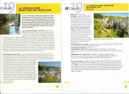 """2 Fiches Tourisme """"Promenade Pédestre : La Région Des Grottes De Plein Air - Nismes"""" - Tourism"""