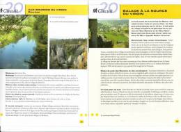 """2 Fiches Tourisme """"Promenade Pédestre : Balade à La Source Du Viroin - Dourbes"""" - Tourism"""