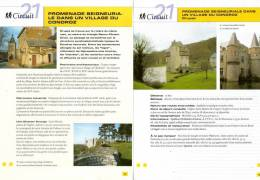 """2 Fiches Tourisme - Circuit Pédestre """"Promenade Seigneuriale Dans Un Village Du Condroz - Crupet"""" - Tourism"""
