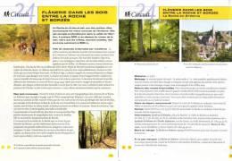 """2 Fiches Tourisme - Circuit Pédestre """"Flânerie Dans Les Bois Entre La Roche Et Borzée"""" - Toerisme"""