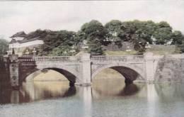 JAPAN -TOKYO - BRIDGE IN IMPERIAL PALACE GARDENS.BOAC CARD - Tokio