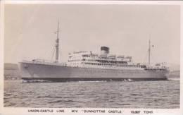 SHIPPING - UNION CASTLE. M.V. DUNNOTAR CASTLE - Paquebote