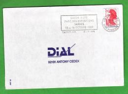 """Flamme Dpt 65 : TARBES RP Temporaire Non Illustrée De 1989 """"Salon De L´auto...Tarbes... Octobre 1989 - Postmark Collection (Covers)"""