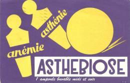 Buvard  Asthebiose Anémie Asthenie  Au Dos Laboratoire Paul Hardy Paris XVè Expédition Par Poste Cachet PP 1957 Adressé - Chemist's