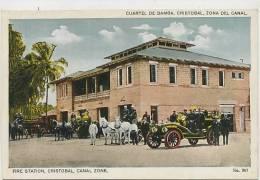 Panama , Cristobal, Canal Zone Fire Station, Firemen, Pompiers, Bomberos No 367  Edit Maduro - Panama