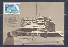 FRANCE CARTE MAXIMUM (maximum Card ) - 487 - N° 1519  Exposition Internationale De Montréal. Pavillon Français. - Maximumkaarten