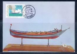 PORTUGAL - CARTE MAXIMUM (maximum Card ) - 1822 - N° 1362 Bateau (boat - Maritime) Barca De Xavega - Maximumkaarten