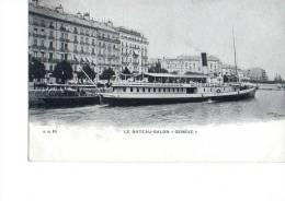 Schiff Le Bateau-Salon Geneve Passagierschiff Dampfer Hotel Litho Sw 2.1.1908 Nach München - Paquebots